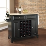 Newport Kitchen Island in Black - Crosley - KF31001CBK