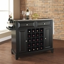 Newport Stainless Kitchen Island in Black - Crosley - KF31002CBK