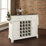 Newport Stainless Kitchen Island in White - Crosley - KF31002CWH