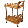 Oak 2-Tier Wine Table - JW-104 OAK - ORE