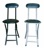 ORE International - Black/Silver Folding Chair (Set of 2) - F-4005