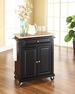 Portable Kitchen Cart/Island in Black - Crosley - KF30021EBK