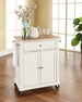 Portable Kitchen Cart/Island in White - Crosley - KF30021EWH