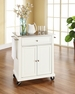 Portable Kitchen Cart/Island in White - Crosley - KF30022EWH