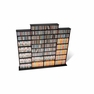 Quad Wall Media Storage in Black - PREPAC - BMA-1520-K