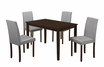 "Rectangle Dining Table (30""X 48"") in Cappuccino Veneer - Monarch - I 1178"