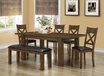 Rectangle Dining Table in Walnut Veneer - Monarch - I 1550