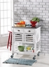 Robbin Kitchen Cart - Linon Home Decor - 464810WHT01U