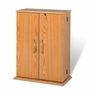 Small Locking Media Storage Cabinet in Oak - PREPAC - OVS-0136