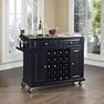 Stainless Kitchen Cart in Black - Crosley - KF31002EBK