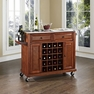 Stainless Kitchen Cart in Cherry - Crosley - KF31002ECH