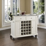 Stainless Kitchen Cart in White - Crosley - KF31002EWH