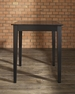 Tapered Leg Pub Table in Black - Crosley - KD20002BK