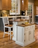 Woodbridge Two Tier Island & Two Stools - Home Styles -5010-948