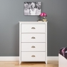 Yaletown 4-Drawer Chest, White - PREPAC - WDBR-1203-1