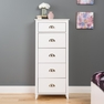 Yaletown 5-Drawer Tall Chest, White - PREPAC - WDBR-1204-1