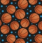 Fleece Fabric Basketball Fleece Material By The Yard