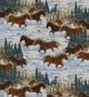 Fleece Fabric Horses - Snow Gallop Fleece Fabric By The Yard
