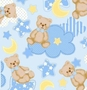 Fleece Fabric - Kids Fleece Fabric - Kids Fleece Material - Teddy Bear Blue