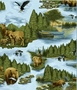 Fleece Fabric -Wilderness Park Fleece Material