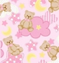 Fleece Fabric - Teddy Bear Pink Fleece Material