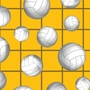 Volleyball Fleece Fabric - Volleyball Fleece Material - Gold