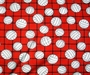 Volleyball Fleece Fabric - Volleyball Fleece Material - Red