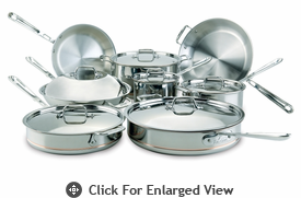 All-Clad Copper-Core 14 Piece Cookware Set