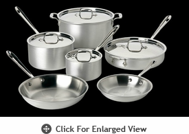 All-Clad MC2 10 Piece Cookware Set