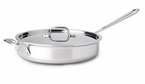 All-Clad  New Stainless  3 qt Saute Pan w/ Lid