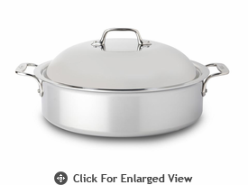 All-Clad New Stainless 6 qt French Braiser w/ Domed Lid & Rack