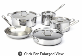 All-Clad New Stainless 9-Piece Cookware Set
