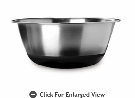 Amco Houseworks 4.5Qt Black Silicone Bottom Bowl