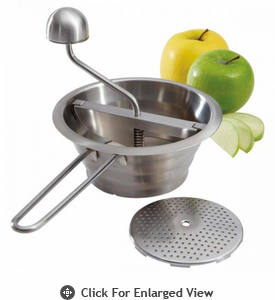 Amco Houseworks Mini Stainless Steel Food Mill with 2 Disks