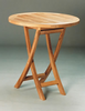 "Anderson Genuine Teak Bahama 27"" Round Bistro Folding Table"