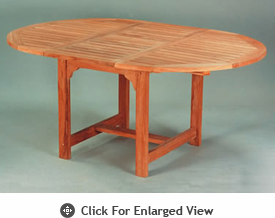"Anderson Genuine Teak Garden Furniture Bahama 67"" Oval Extension Table"