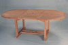 "Anderson Genuine Teak Garden Furniture Bahama 71"" Oval Extension Table Extra Thick Wood"