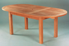"Anderson Genuine Teak Garden Furniture Bahama 78""  Oval Extension Table"