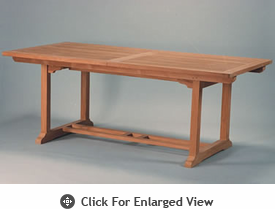 Anderson Genuine Teak Garden Furniture Bahama 8-Foot Rectangular Extension Table