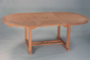 """Anderson Genuine Teak Garden Furniture Bahama 87"""" Oval Extension Table Extra Thick Wood"""