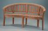 Anderson Genuine Teak Garden Furniture Curve 3-Seater Bench Extra Thick Wood