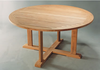Anderson Genuine Teak Garden Furniture Tosca 5-Foot Round Table Non Folding Table