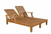 Anderson Teak Garden Furniture Brianna Double Sun Lounger with Arm