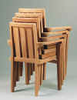 Anderson Teak Garden Furniture Classic Stackable Armchair  (Set of 4)