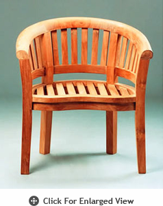 Anderson Teak Garden Furniture Curve Armchair Extra Thick Wood