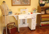 Arrow Products Inc.  Airlift Sewing Machine Cabinet -Auntie Em