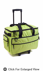 "Bluefig Wheeled Sewing Travel Bag 19"" Lime"