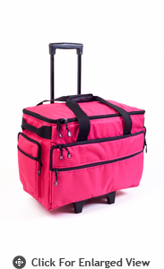 "Bluefig Wheeled Sewing Travel Bag 19"" Pink"