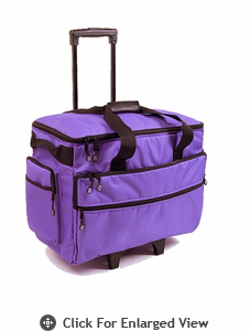 "Bluefig Wheeled Sewing Travel Bag 19"" Purple"
