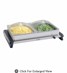 BroilKing  Double Buffet Server  W/ Polycarbonate Lids
